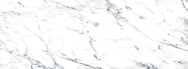 Fotobehang - White and black marble texture background. Abstract marble texture, stone natural patterns for design art work.Long wide panoramic format.