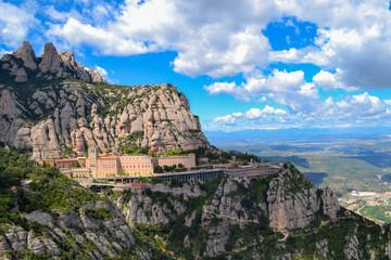 The Montserrat monastery in Spaine Wall mural