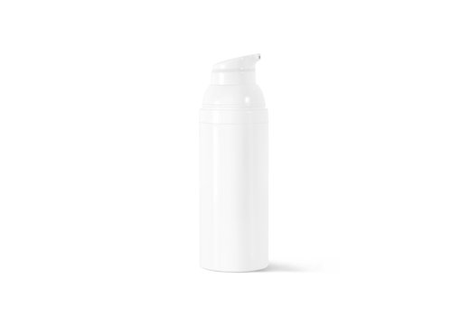 Blank white cream bottle mock up, front view