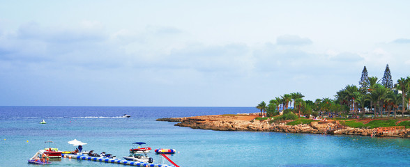 Fig Tree Beach in Protaras. One of the popular beaches in Europe.