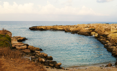 Fig Tree Beach Peninsula. One of the popular beaches in Europe.