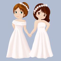 Wedding girls couple