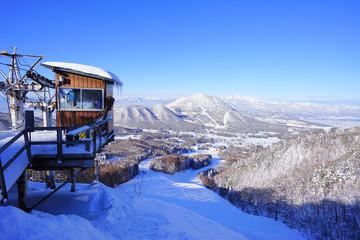 Kitashiga Komaruyama Ski Resorts, Yamanouchi town, Nagano Pref., Japan