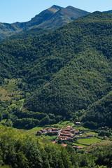 Village Pembes in Picos de Europa at the trail Puertos de Aliva in Cantabria,Spain,Europe