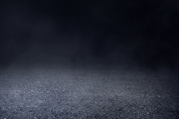 Asphalt texture background with smoke