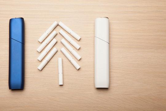 electronic smoke device table background
