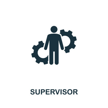 Supervisor icon. Creative element from business administration collection. Simple Supervisor icon for web design, apps and software