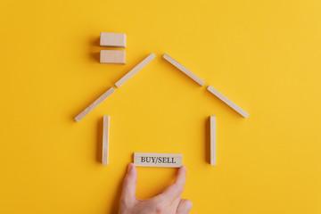 Conceptual image of real estate market