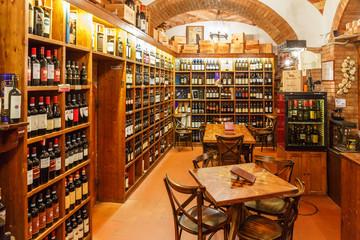 Interior of a wine shop