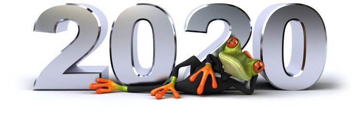 Fotorollo Frosch Fun 3D green cartoon frog