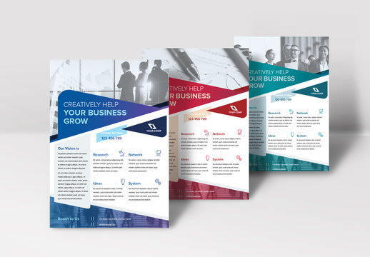 Flyer Layout with Round Geometric Elements