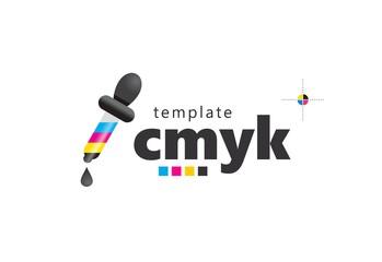 Logo eyedropper tool colored cmyk