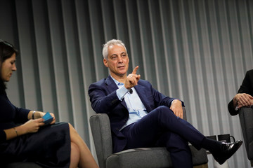 Rahm Emanuel, former mayor of Chicago, speaks during the Wall Street Journal CEO Council