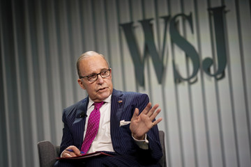 U.S. Director of the Economic Council Larry Kudlow  speaks during the Wall Street Journal CEO Council