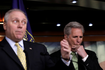 House Minority Leader Kevin McCarthy on impeachment announcement on Capitol Hill in Washington