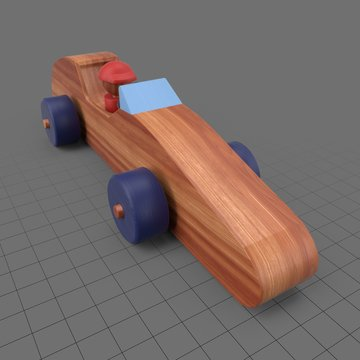 Wooden toy sports car