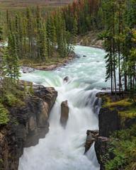 Wall Mural - Sunwapta Falls, Jasper National Park, Alberta, Canada