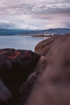 Blick auf Halbinsel Reykjavik, Island