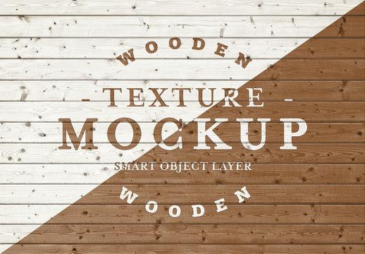 Wood Plank Texture Mockup