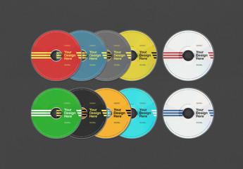 Cd or Dvd Disk Mockups
