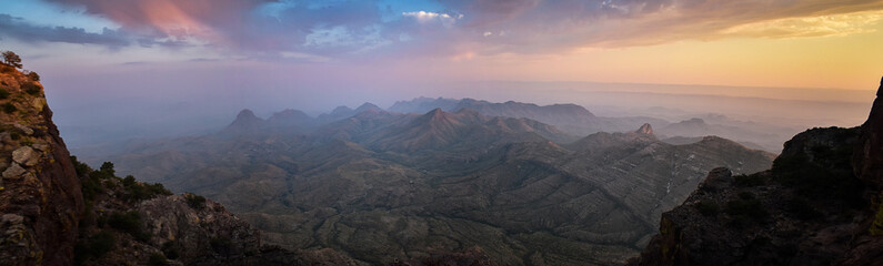 Foto auf Acrylglas Schwarz sunset at big bend national park