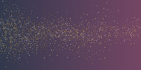 Bright vector illustration Magic rain of sparkling glittery particles lines. Wall mural