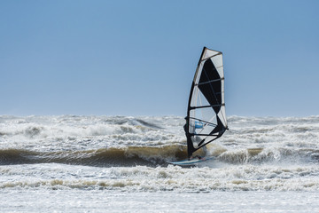 Windsurfing in St. Peter-Ording; Germany