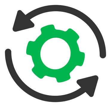 Infinite rotation vector icon. Flat Infinite rotation pictogram is isolated on a white background.
