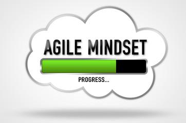 Agile Mindset - motivational progress bar