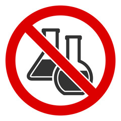 No chemicals vector icon. Flat No chemicals pictogram is isolated on a white background.