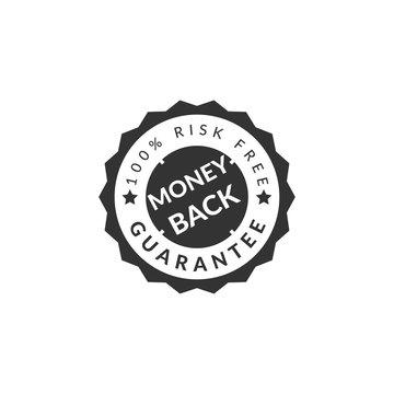 100% money back guaranteed badge