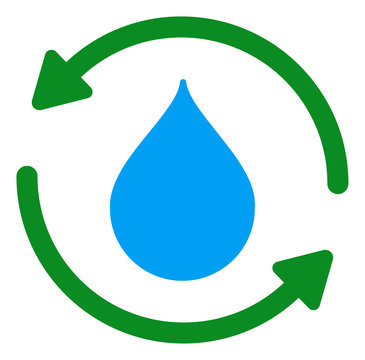Water treatment vector icon. Flat Water treatment symbol is isolated on a white background.