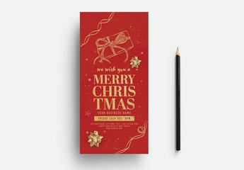 Red and Gold Christmas Card Layout