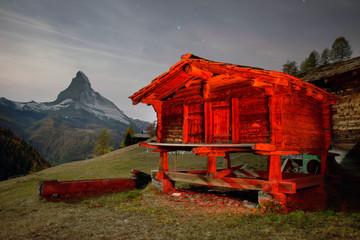 Wall Mural - Architecture of Switzerland near Matterhorn