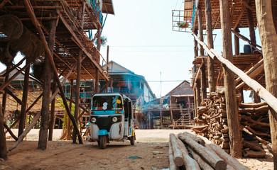 Floating Village in Cambodia Kampong Phluk Pean Bang, Tonle Sap Lake Fototapete
