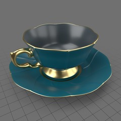 Vintage teacup with saucer