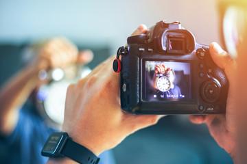 Backside camera when photography take a shoot.