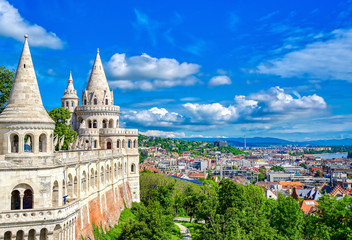 Keuken foto achterwand Boedapest Fisherman's Bastion, located in the Buda Castle complex, in Budapest, Hungary.