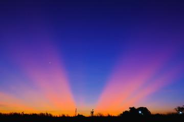Twilight landscape, Sky sunset nature beautiful