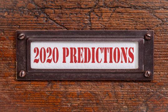 2020 predictions- file cabinet label