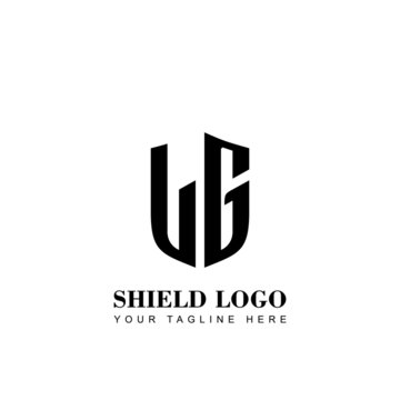 Initial Letter LG Shield logo template