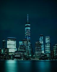 Blue Gotham New York City Skyline