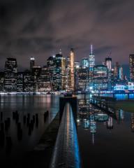 New York city Manhattan skyline with reflection