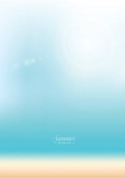 Blur summer blue beach - vector background
