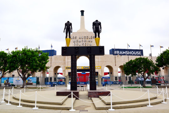 Los Angeles, California - September 28, 2019: Los Angeles Memorial Coliseum located in the Exposition Park