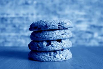 Photo sur Plexiglas Zen pierres a sable Classic Blue background. Color of the year 2020. Trendy Classic Blue color.