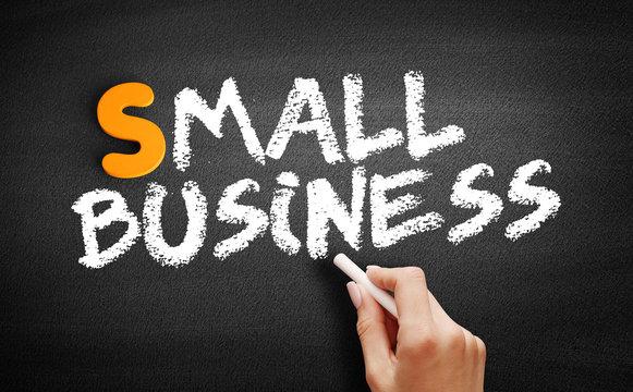 Small Business text on blackboard, business concept on blackboard