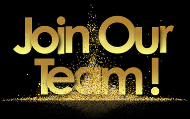 join our team in golden stars background