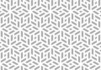 Fotorolgordijn Geometrisch Abstract geometric pattern. A seamless vector background. White and grey ornament. Graphic modern pattern. Simple lattice graphic design.