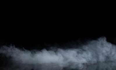 Fototapete - Abstract Smoke on black Background
